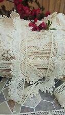 1m Vintage Cotton crochet lace trim CREAM/IVORY Ribbon wedding/cake decoration