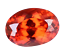 thumbnail 2 - 7.35 Ct Natural Fire Orange Sapphire CERTIFIED Oval Sparkling Tanzania Gemstone