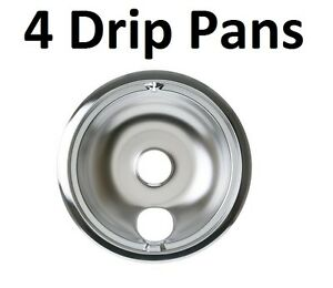 4 Stove 8 Inch Drip Pan For Ge Hotpoint Kenmore