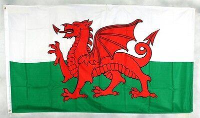 Wales Flagge 150 x 90 cm wetterfest Fahne Ösen außen Hissflagge