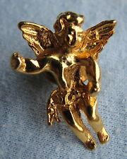 Goldfarbene kleine Brosche Pin Engelchen