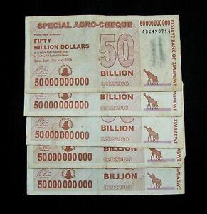 50 Billion Dollar Agro Cheque Banknotes
