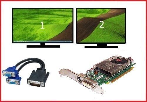 Dell Optiplex 330 360 380 390 Full Tower Dual VGA Monitors Video Card PCI-e x16