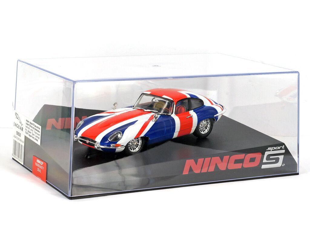 NINCO SPORT 50620 1 32 Jaguar E-Coupe Union Jack-hecho En España-Nuevo Nue
