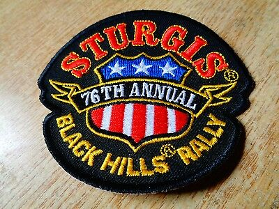 STURGIS 2016 76th Annual Motorcycle Rally Shield Patch  Biker  Black Hills Rally