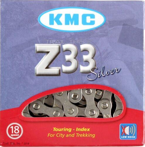 "KMC Z33 Silver 5//6-Speed 1//2/"" x 3//32/"" Road//MTB Bike Chain 116L Z33NP"