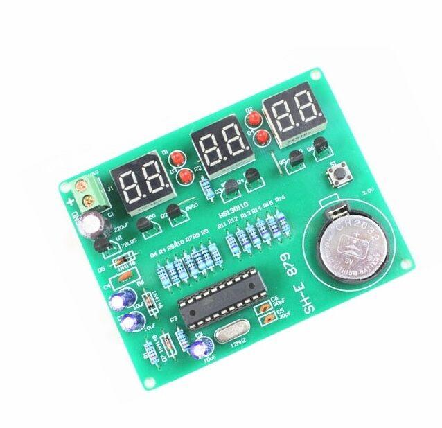9V-12V AT89C2051 6 Digital LED Electronic Clock Parts Components DIY Kit CA