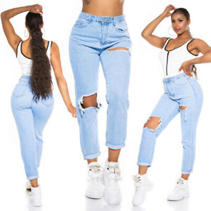 Jeans Ladies High Waist Mom Jeans Trousers Used