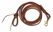 """Showman 8' X 5/8"""" Leather Adjustable Roping Reins Made in USA Horse Tack"""