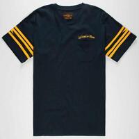 Us Versus Them Bolt Pocket Crew Premium Tee Mens Navy Cotton T-shirt