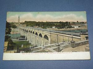 VINTAGE  1900S CENTRAL & H R R R RAILROAD TRAIN HARLEM    NEW YORK   POSTCARD
