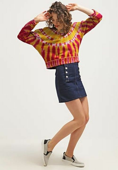 190 Authentic Rare DIESEL Women's Multi-Tone Tie-Dye Jumper Sweatshirt