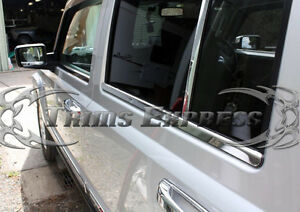 fits-2006-2010-Jeep-Commander-4Pc-Window-Sill-Trim-Stainless-Steel-Overlay