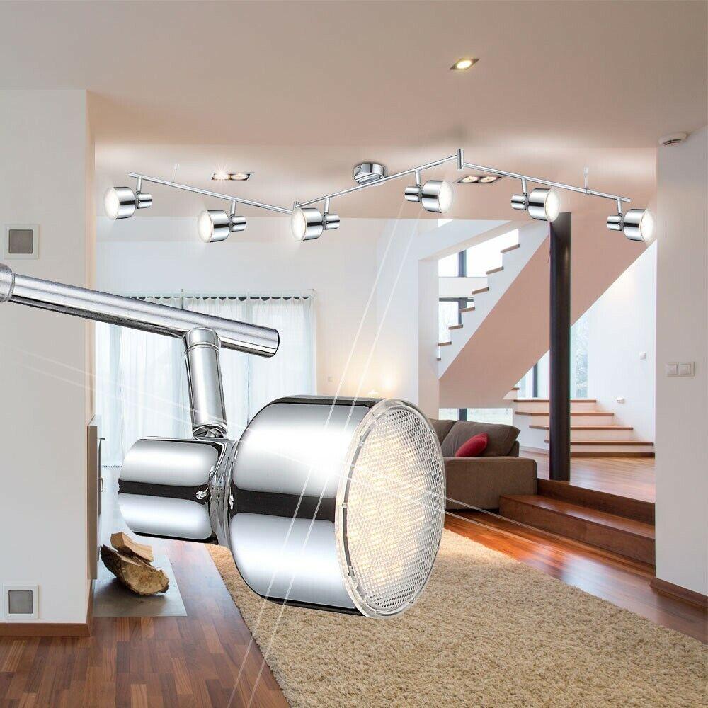 LED Chrom edel Esszimmer Lampe Deckenleuchte 24 24 24 Watt Wohnzimmer Living-XXL 014942