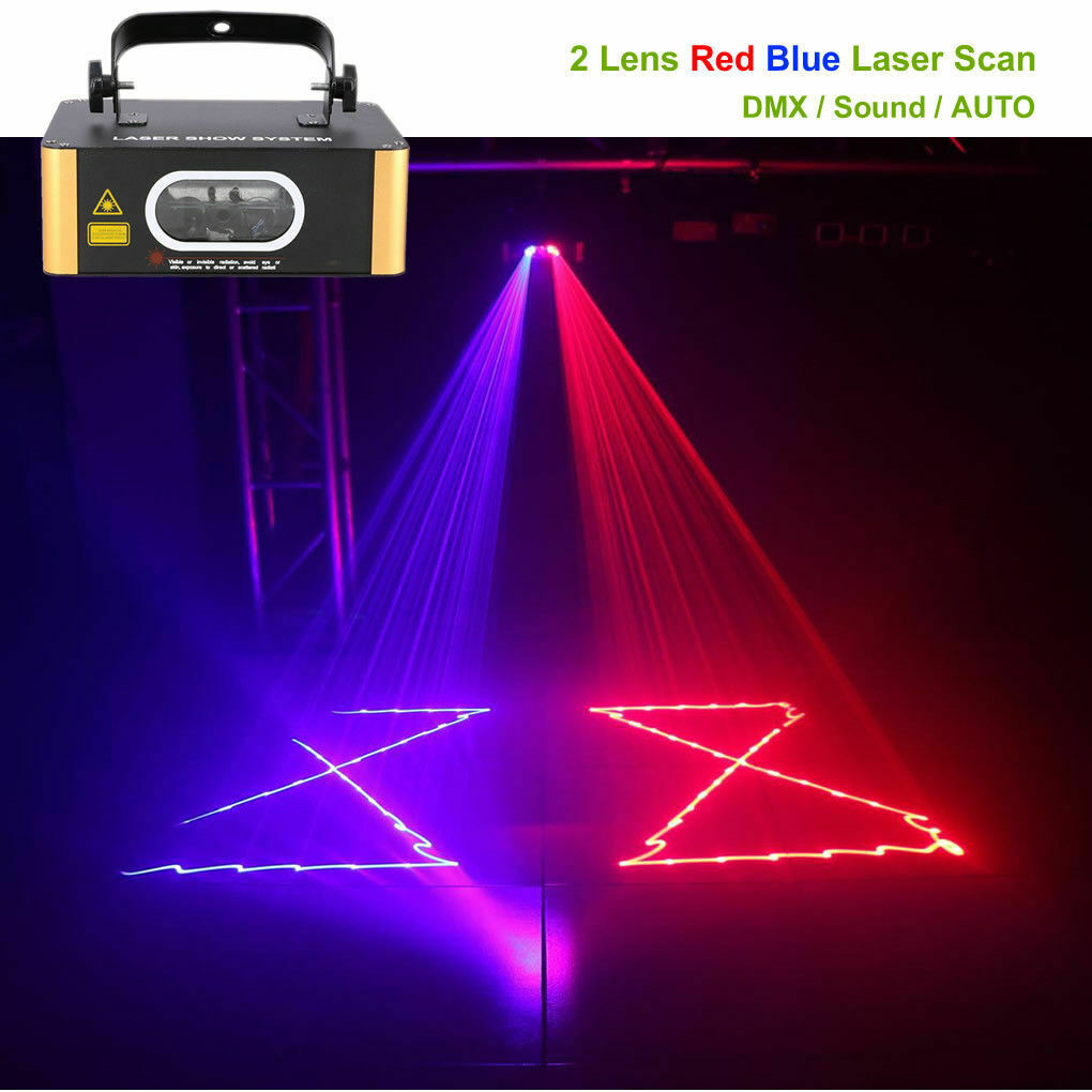 Red Blue Scan Beam Laser Light DMX Sound Lamp DJ Party Home party Stage Lighting