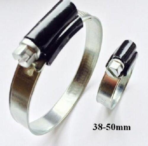 Abrazadera de manguera abrazadera de silicona manguera borna HD 38-50mm envase 10 unid.