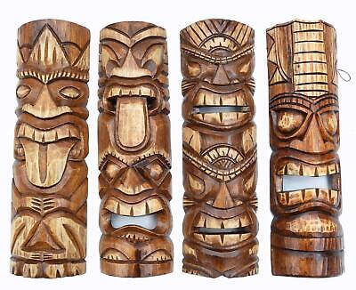 4 Tiki Masken 50cm Zum Aufhängen Tiki Wandmasken Hawaii Maui Maske Wandmaske Feines Handwerk