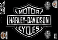 Xl Harley Davidson Motorcycle Bar And Shield Chrome Decal Made In The Usa