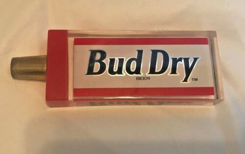 "6"" Bud Dry Acrylic Beer Keg Tap Handle Shift Knob"