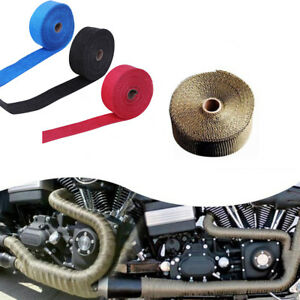 Details about EG_ Car Motorcycle Exhaust Pipe Wrap Insulation Heat-Proof  Strip&4 Steel Ties