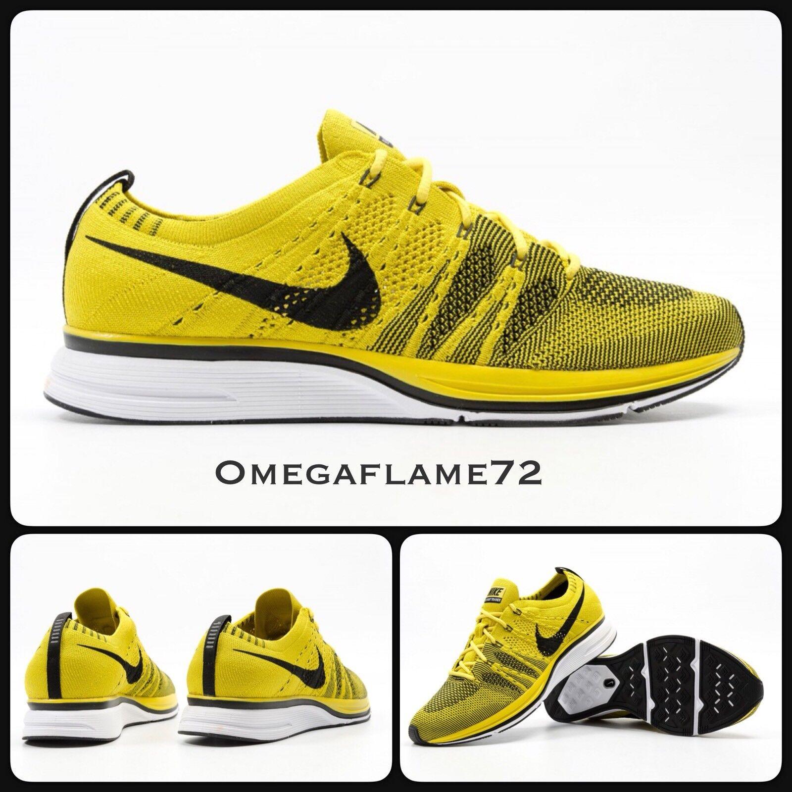 Nike flyknit trainer brillante citron & nero ah8396-700 noi