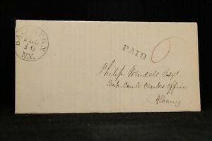 New York: Ballston 1834 Stampless Cover, DPO Saratoga Co to Albany, NY