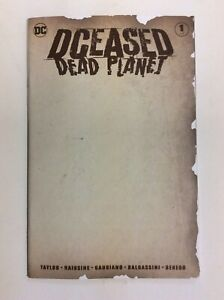 DCEASED DEAD PLANET #1 BLANK SKETCH VARIANT DC COMICS BATMAN SUPERMAN