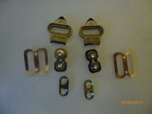 1 some new shoe plates TYPE EC02 for clipin pedals WITH ACCESSORIES