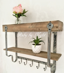 Image Is Loading Vintage Rustic Style Wall Shelf Unit Amp