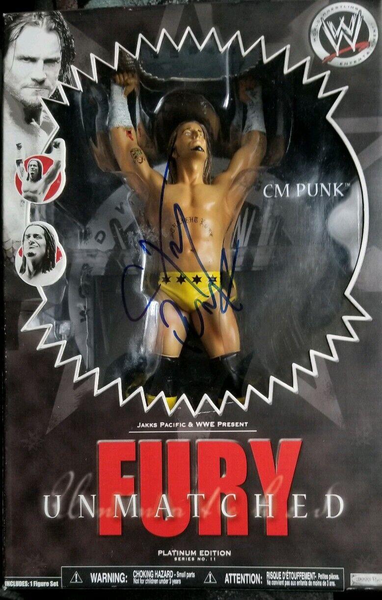 Wwe unmatched fury cm punk signed