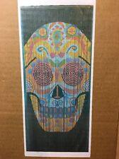 Bamboo Beaded Sugar Skull Painted Curtain Boho Bohemian Hippie Gypsie 36x72