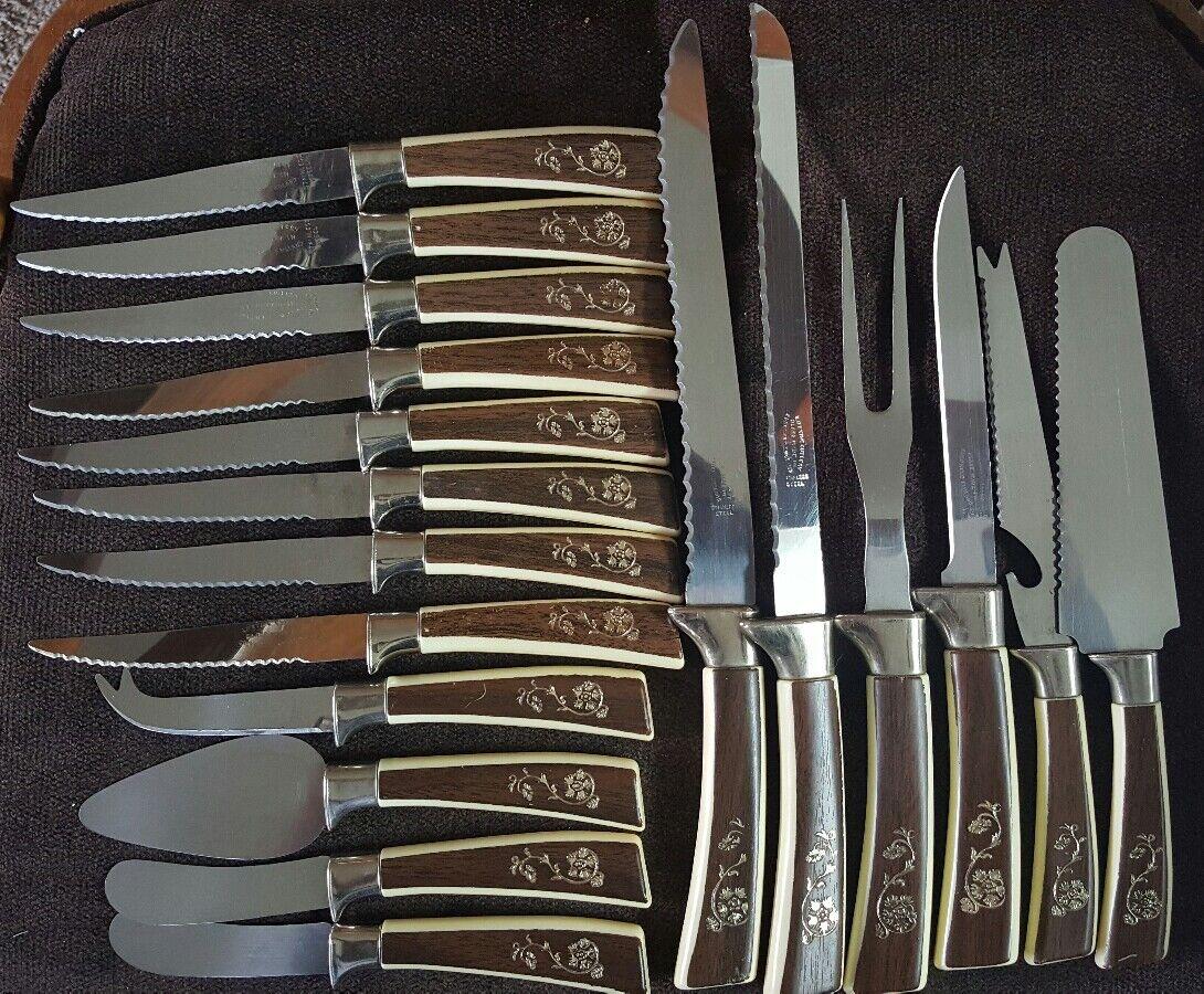 Lifetime couverts couteaux vintage en acier inoxydable couteaux, Lot de 18