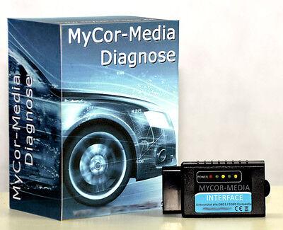Software MyCor-Media Diagnose USB OBD Scanner 1.4 PASoft f/ür BMW E46 E39 E38 E83 E53 E85