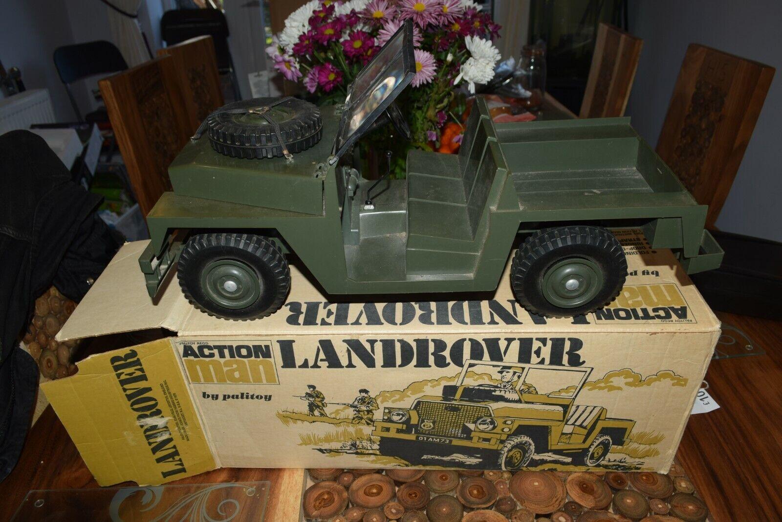 PALITOY Acción MAN Vintage Land Rover en Caja 70s Original Excelente Con Estrellas