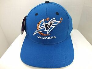 90502a166c494 Vintage Washington Wizards NBA ADULT 90 s SNAPBACK Hat CAP New BY ...