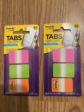 2 Packs Of Post It Tabs 3m 686 Pgo Pink Green Orange Durable
