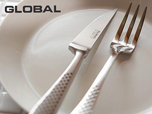 NOUVEAU    Japonais Qualité STEAK KNIFE & folk Global Acier Inoxydable GTJ-01 Japon