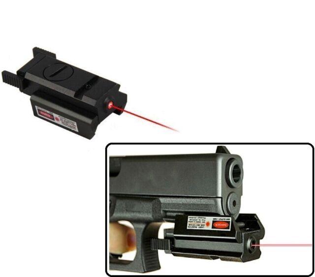US Red Dot Laser Sight 20mm Picatinny Weaver Rail Mount For Pistol Gun Compact