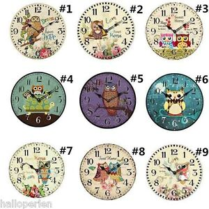 Beautiful-Owl-Artist-Design-Wall-Clock-Children-Room-Clock-12cm-diameter