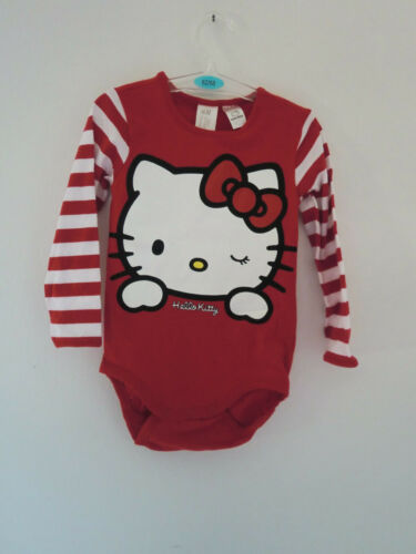 "Baby-Strampler /""Hello Kitty/"" Elasthan rot Baumwolle"