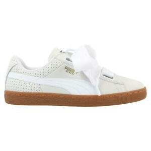 Details about Womens PUMA BASKET HEART PERF GUM Trainers 366809 01