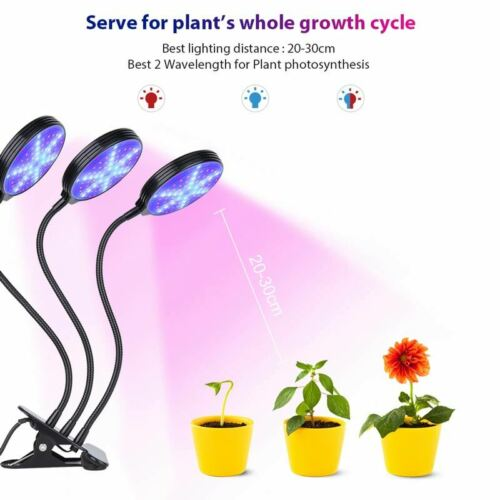 Waterproof Three Head Timing Plant Lamp LED Grow Tube 30W 45W Dimmable For Plant