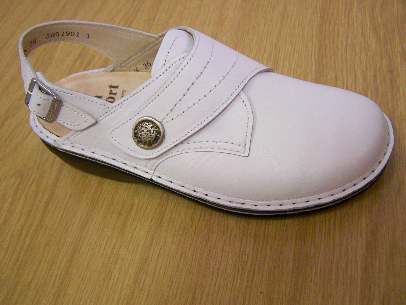 Finn Comfort veracruz-s avec en blanc avec veracruz-s bride softfu bett! incl. chaussure sac e7022c