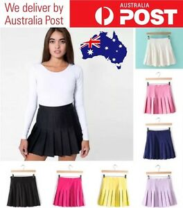 CUTE-HIGH-WAISTED-PLEATED-TENNIS-SKIRT-HOT-VARIOUS-COLOURS-SIZES-FREE-POSTAGE