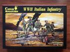CAESAR MINIATURES 1/72 WW II ITALIAN INFANTRY 30 FIG TOY SOLDIERS KIT # 072 NIB