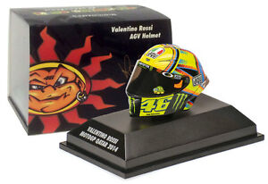 Minichamps 1//8 Valentino Rossi Modell Helm Diecast AGV M1 Motogp Qatar 2014
