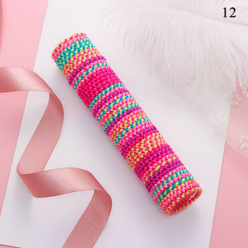 50P Girls Colorful Basic Elastic Hair Bands Children Ponytail Holder Rubber Band