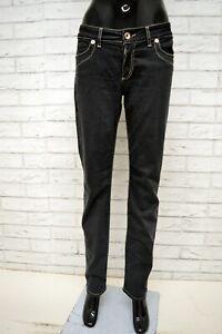 Pantalone-LIU-JEANS-Donna-Taglia-Size-31-Pants-Woman-Nero-Slim-Fit-Gamba-Dritta