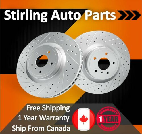 2008 2009 2010 For Mazda 3 Coated Drilled Slotted Front Rotors