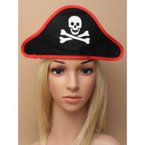 Adult Pirate of the Caribbean Captain Jack Black Pirate Hat on Stretch Headband